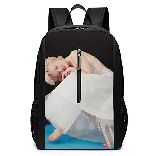Marilyn Monroe Laptop Backpacks for Women Men 17 Inch Large Travel Cool College Black Schoolbag