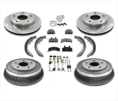 For 1994-1999 Dodge Ram 1500 Pick Up 4 Wheel Drive Rotors Pads Drums Shoes Brake