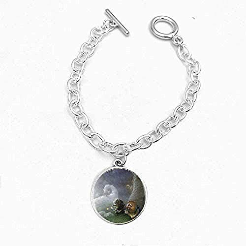 ZHIFUBA Co.,Ltd Necklace Penguin Necklace Mouse Pattern Round Glass Cabochon Bracelet Silver Bracelets Bangles for Women Girls Men Kids Gift Jewelry Necklace Gift