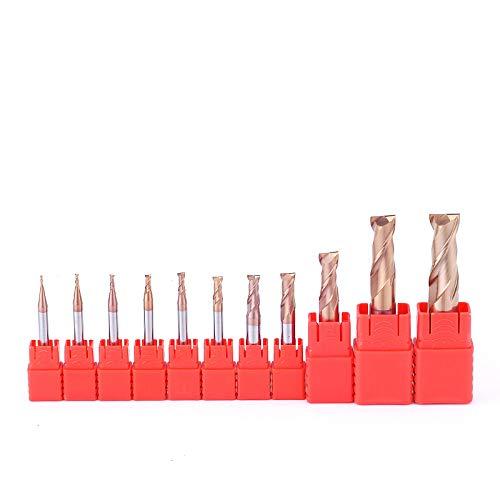 1pcs Fresa de carburo 2 Flauta HRC55 Fresa de metal duro, Fresa de acero duradera Fresa CNC Máquina herramienta para metal, D0.5,3, D4,50L, 2F