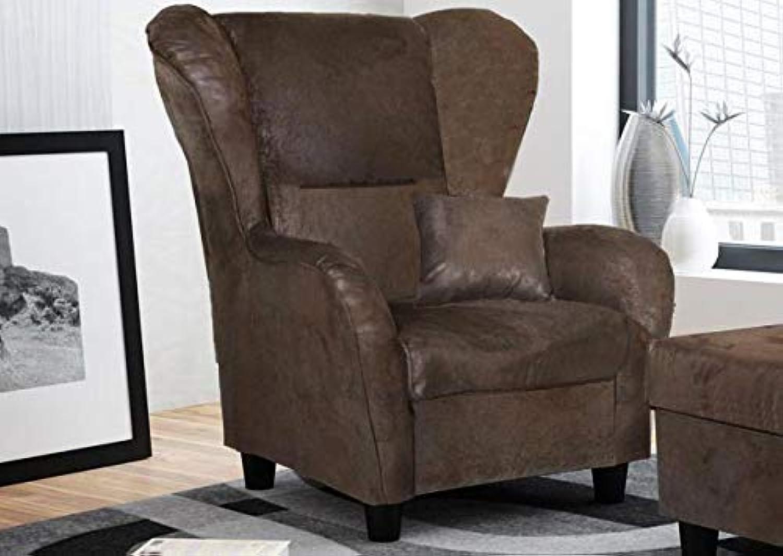 Lifestyle4living Ohrensessel in braun im Vintage Look  Der perfekte Sessel für entspannte, Lange Fernseh- und Leseabende. Abschalten und genieen
