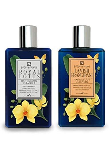 Donna Overseas parallel 55% OFF import regular item Chang Royal Lotus and Lavish - Set A Shower Frangipani Gel