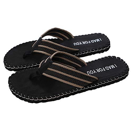 Men Sandals Size 7, Men Summer Shoes Sandals Male Slipper Indoor Or Outdoor Flip Flops BK/41, Black, US:8