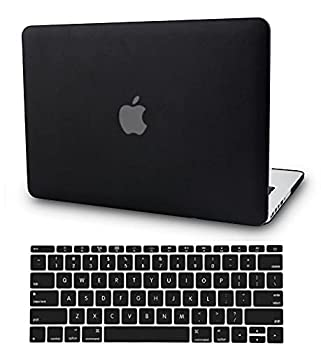 KECC Leather Case Compatible with MacBook Pro 13   2020/2019/2018/2017/2016  w/Keyboard Cover Italian Leather A2159/A1989/A1706/A1708 Touch Bar 2 in 1 Bundle  Black Leather