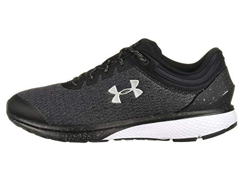 Under Armour Men's Charged Escape 3 Running Shoe, Black (001)/White, 15