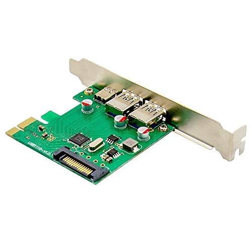 Fltaheroo PCI-e X4 Super Geschwindigkeit USB 3.1 Typ C + a Sockel Erweiterungs Karte 2A1C Port VL805
