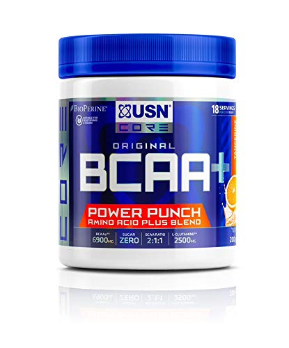USN BCAA Power Punch Amino Acids, Keto FriendlyTangerine, 200 g