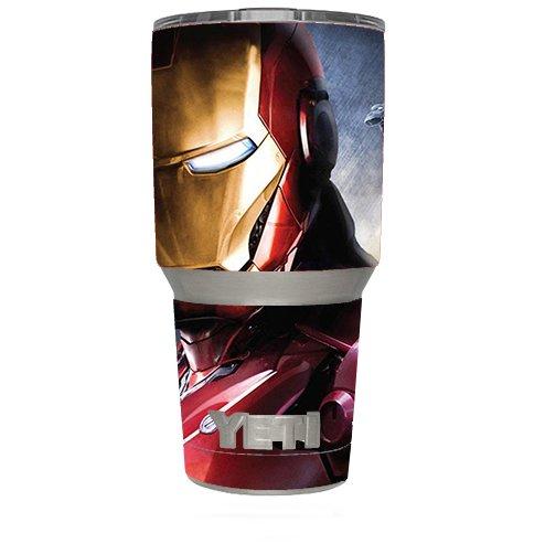 Skin Decal Vinyl Wrap (6-piece kit) for Yeti 30 oz Rambler Tumbler Cup / Ironman