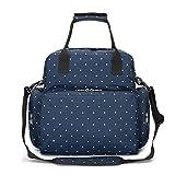 LYNN Wickelrucksack, große Kapazität, Babytasche, Multifunktions-Reiserucksack, Wickeltasche, Stilltasche, wasserdicht blau