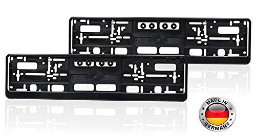 autooptimierer.de Kennzeichenhalter Auto 2er Set Schwarz Stabil Witterungsbeständig Nummernschildhalter Pkw Kennzeichenhalterung Nummernschildhalterung (2 Stück)