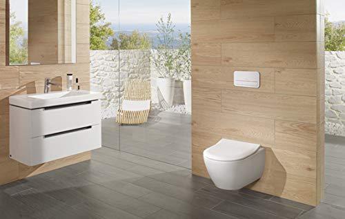 Villeroy & Boch Wand-WC Subway 2.0, Tiefspüler mit offenem Wasserrand und ceramicplus, 1 Stück, weiß alpin, 5614R0R1 - 4