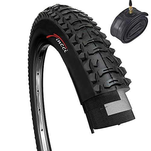 Fincci Set 26 x 1,95 Zoll 53-559 Faltbar Reifen mit Sclaverandventil Schläuche für MTB Mountain Hybrid Fahrrad