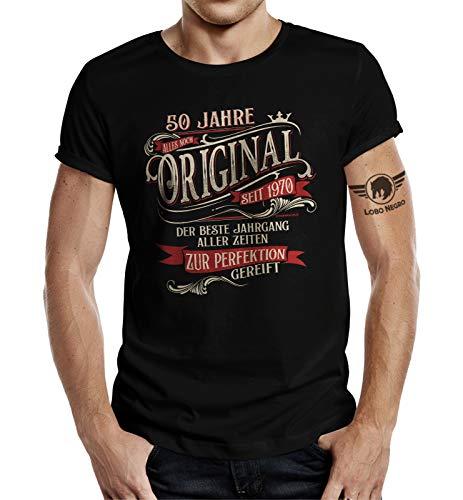 Geschenk T-Shirt zum 50. Geburtstag - Alles Original zur Perfektion gereift L