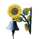 SSHA Cast Iron Rustic Vintage Door Wall Dinner Yard Bell Outdoor Southwestern Farm Accent Bells Cast Iron Bell