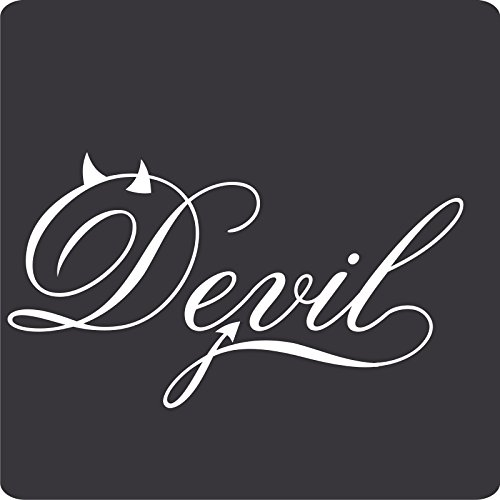1 Devil-Aufkleber zur Dekoration von Wänden, Glasprodukten, Fliesen und allen anderen glatten Oberflächen