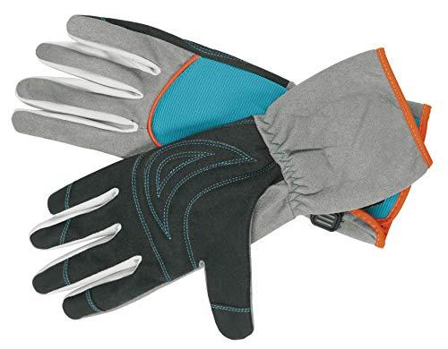 Gardena Strauchpflegehandschuh: Gartenhandschuhe für Arbeiten mit dornigen Sträuchern/Pflanzen, Größe 7/S, optimaler Tragekomfort, lange Stulpen, robuste Materialien zum Schutz der Hände (216-20)