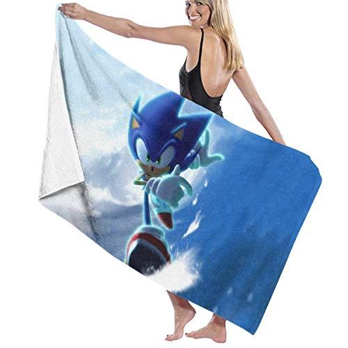Ewtretr Toalla de Playa Sonic The Hedgehog 11 Beach Towels Ultra Absorbent Microfiber Bath Towel Picnic Mat for Men Women Kids