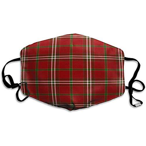 FANCYDAY Mond Maskers, Multifunctionele Maskers-Groene Tartan Plaid Patroon Rode Kerst Jager Herfst Heldere Cabine