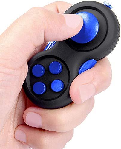 Detrade Fidget Pad Controller, Gamepad Zappeln Spielzeug Stressreduzierer Spielzeug Geschenk Retro Controller (Blau)