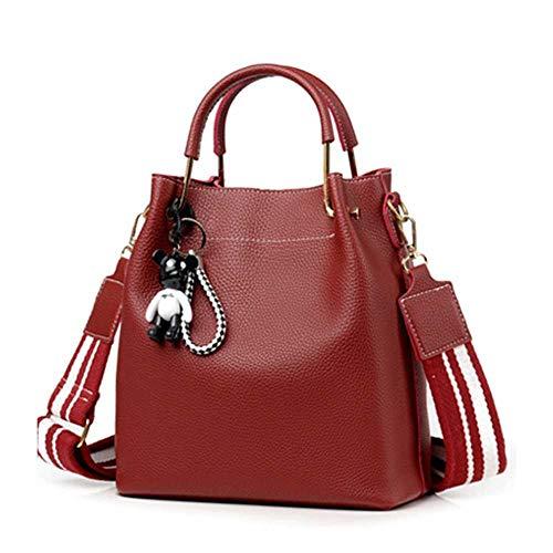 PU-Leder Handtaschen Messenger Bag große Kapazität Handtasche Damenmode Wilde Breitband Eimer Tasche Umhängetasche