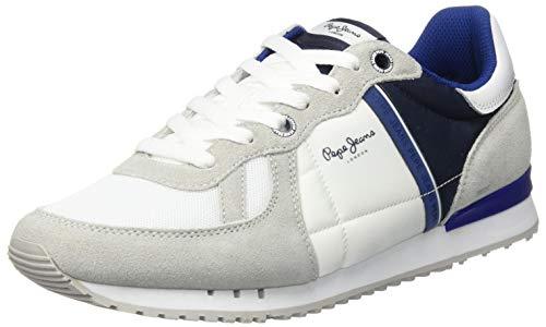 Pepe Jeans Tinker Zero ATH, Zapatillas Hombre, Color Blanco 800, 45 EU