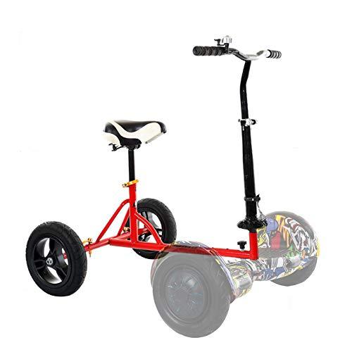 SSCYHT Kart Hoverboard Kit Conversion pour Karting avec Siège Confortable Compatible avec Le Scooter électrique Auto-Equilibré 6,5' 8' 10' Convient Aux Adultes Aux Enfants,Rouge