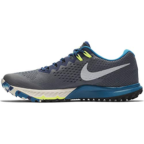 Nike Air Zoom Terra Kiger 4 Men's Running Shoes nk880563 005, Dark Grey/Metallic Silver-blue Void, 10