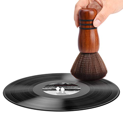 Facmogu Brosse de nettoyage pour disques vinyles - Antistatique - Souple - Pour nettoyer les disques vinyles