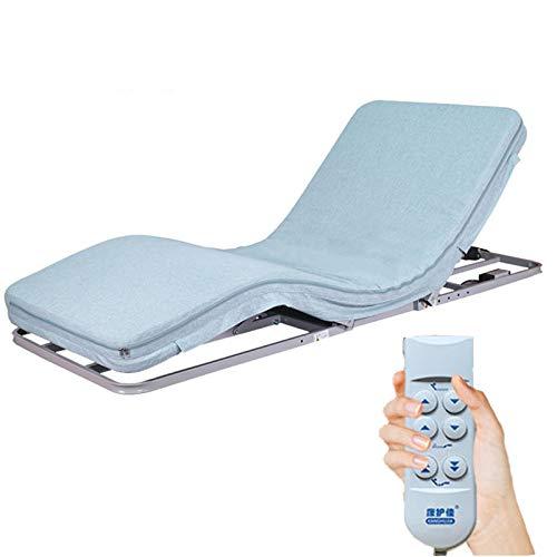 ANYURAN Cama eléctrica Ajustable, con colchón de Espuma viscoelástica y cojín eléctrico de la Ayuda de la Almohada de la cuña del Respaldo de la Cama