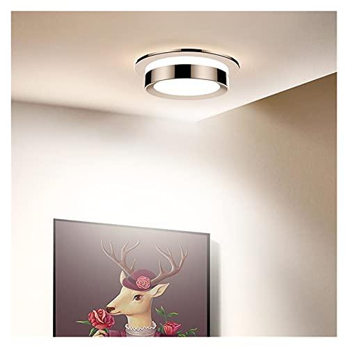 Xiniufsd Downlight LED Downlight Techo Spot Light 5W 7W 9W 12W 15W AC85-265V Iluminación de Interiores empotrable Regulable 3000K / 4000K / 6000K (Body Color : Gold, Emitting Color : Cold White)
