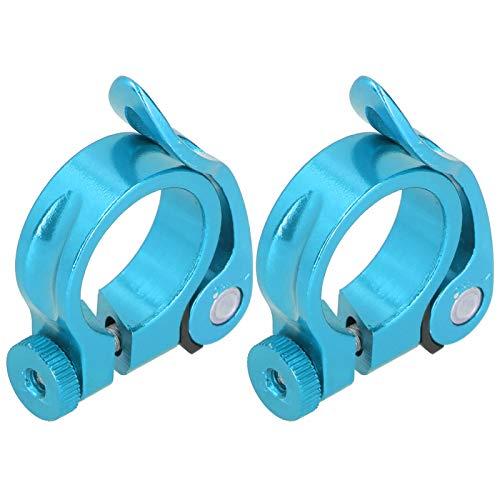 Tija de sillín Abrazadera de liberación rápida Tija de sillín Diseño simple fuerte, para 27.2mm Tija de sillín de bicicleta (azul)