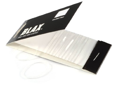 BLAX Clear Snag-Free Hair Elastics - 12ct - 2mm