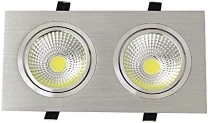 BRILLRAYDO 10W(2x5W) Dual-Head LED COB Reccessed Ceiling Spot Li