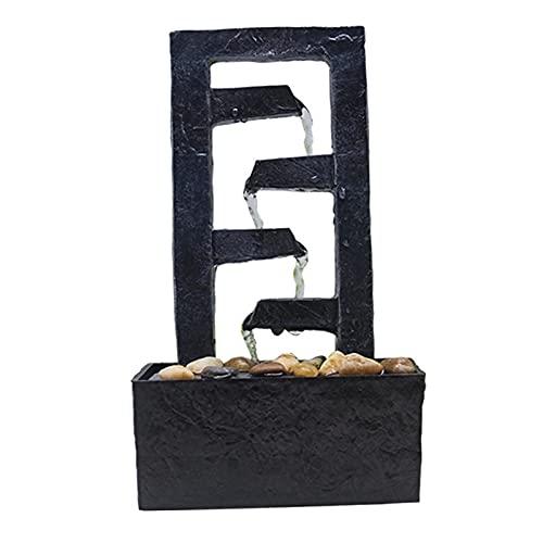 Baoblaze Fuente de Mesa, Adornos de Feng Shui, decoración compacta para el hogar y la Oficina, Adornos pequeños, Manualidades de Paisaje