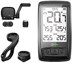 CMeilan M4 Wireless Bike Computer Speedometer with Bluetooth, ANT+ Speed & Cadence Sensor - Connects to Heart Rate Straps & Power Meters and Smart Trainers, Black