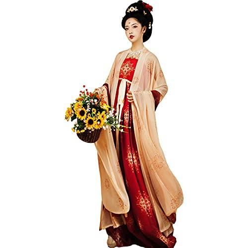 XIAOXIAO Hanfu Hanfu Chino Traje Tradicional Antiguo Disfraz De Falda De Hada Vestido De Carnaval De Actuacin Escnica para Mujeres (Color : A, Size : X)