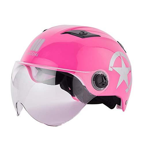 Casco Bicicleta con luz Ajustable Desmontable Deporte Gafas de Protección de Seguridad...