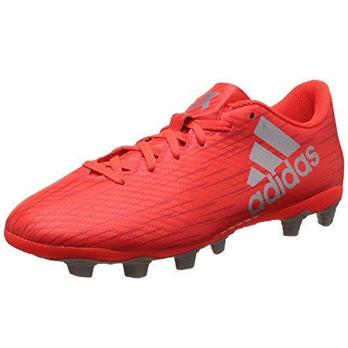 adidas X 16.4 FxG, Botas de fútbol Hombre, (Solar Red/Silver Metallic/Hi-Res Red), 42 2/3 EU