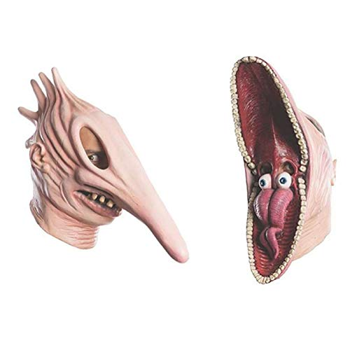 Halloween Beetlejuice Barbara and Adam Mask, Horrible Masquerade Costume Latex Mask, Halloween Costume