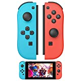 Joy Con Controller Alternatives for Switch Joycon, R/L Joy Pad Remote Controllers with Wake-up Function and 6-Axis Gyro (Blue and Red)