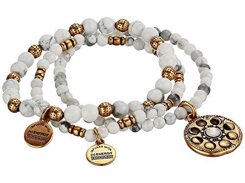 Alex and Ani Lunar Phase Stretch Set of 3 Stretch Bracelet Rose Gold One Size