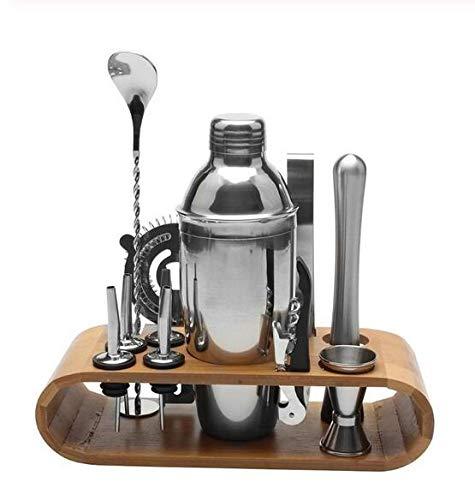 12 teile/satz Edelstahl Schnaps Rotwein Cocktail Shaker Bar Wein Mixer Set Barkeeper Cocktail Hand Shaker Tool Kit mit Halter
