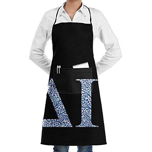 Bib Schort Delta Gamma Blauw Plant Chef'S Aprons Keuken Unisex mannen Professionele Deluxe Party Vrouwen Grade Chef Schort Bbq Restaurant