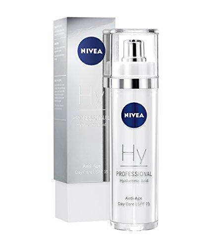 NIVEA PROFESSIONAL Hyaluronsäure Tagespflege LSF 15, hochwirksame Hyaluron Anti-Aging Tagescreme für Gesicht, straffende, innovative Pflege gegen Falten, leichter Anti-Falten Sonnenschutz,1 x 50 ml