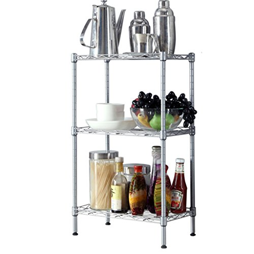 Li Li Na Shop Multifunctionele carbon stalen rekken keuken vloerrekken magnetron oven rekken oven rekken opslag rekken kruidenrekken drie rekken