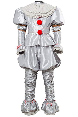 RedJade IT 2 Pennywise Clown Payaso Outfit Traje de Cosplay Stephen King Adulto Caballeros XXXL