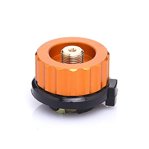 Repuestos para hornos Camping al aire libre Senderismo Estufa Burner Adaptador Tipo Split Furnace Converter Converter Conector Auto-Off Cartucho de gas Cilindro Adaptador de cilindro Accesorios