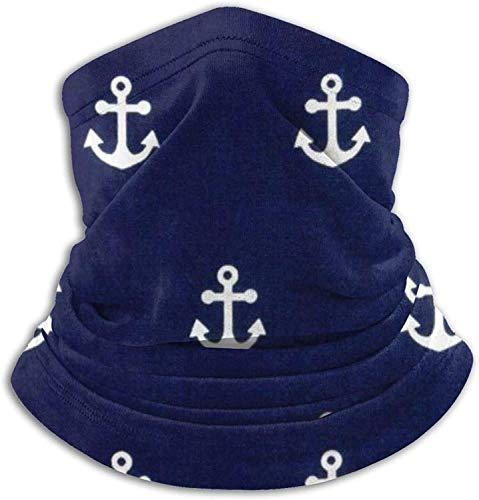 Lawenp Pañuelo para cubrir la cara, polaina de cuello con anclas náuticas, pasamontañas de bufanda mágica lavable para hombres y mujeres