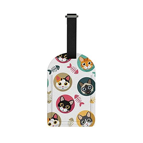 Redecor Etiquetas para equipaje de viaje, Etiquetas para equipaje de gato, Etiquetas para equipaje de viaje, Etiquetas para maleta de viaje, 1 pieza
