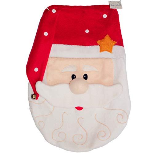 VORCOOL - Funda para inodoro de Navidad con diseño de Papá Noel